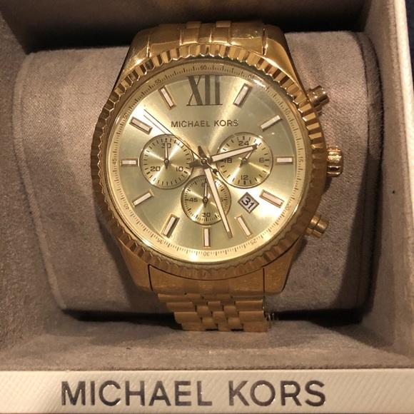 aec8c34faf6e Michael Kors Accessories   Mens Lexington Goldtone Watch   Poshmark